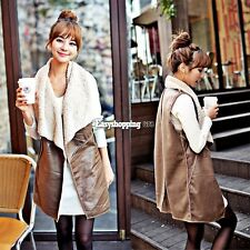 Hotsale Winter Outerwear Gilet Jacket Faux Fur Vest Cream Waistcoat Women Long