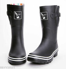 Ladies Wellies Calf Height Wellies Designer Rubber Wellingtons Evercreatures