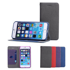 DS Cloth Stand Leather Case Card Wallet Magnetic Cover Skin For Apple iPhone 6