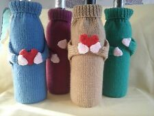 Wine Bottle Cover / Cosy Gift Bag Hand knitted  Super Gift. Men's, Ladies