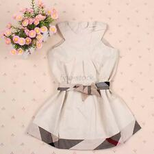 1pcs Lovely Baby Clothes Kids Girls Dress Skirt Vest Tops for 1-6 Years 5Szs FIy