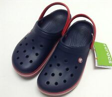 Crocs Crocband Clog Navy Red All Men Women Sz 4 5 6 7 8 9 10 11 12 13 $40 SALE!!