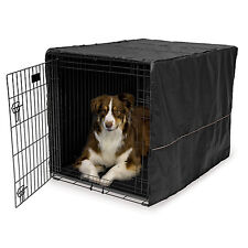 Midwest Quiet Time Black Dog Crate Cover