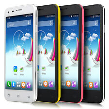 "4.5"" Touch Android 4.4 Unlocked Dual Sim Quad Core Smart Cell phone 3G/GSM GPS"