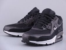 NIKE WMNS AIR MAX 90 ESSENTIAL BLACK ANHTRACITE SUEDE PATENT LEATHER 616730-006