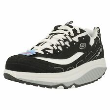 Ladies Skechers Shape-Ups 11809 Strength Black/White Lace Up Trainers