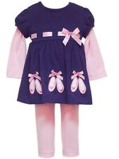 Rare, too (by Rare Editions) Girls Ballerina Fall Winter Outfit 12M 18M 24M NWT