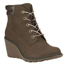 "Timberland Earthkeepers Amston 6"" Inch Women's Wedge Heels Brown 8252A Boots"