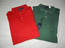 New Men's Polo Ralph Lauren Long Sleeved Mesh Polo Shirts-Szs LT, XLT, 2XLT, 3XB
