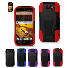 Heavy Duty Durable Hard Soft Kickstand Case For Boost Mobile ZTE Warp Sync N9515
