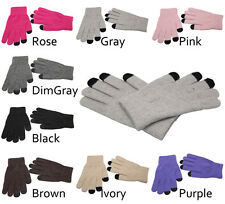 Knit Magic Touch Screen Gloves Smartphone Texting Stretch Adult Winter 1pair