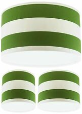 Lampshade Handmade with Green and White Deck Chair Stripe Fabric VARIOUS SIZES