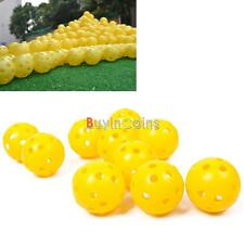 2/10Pcs Pro Firm Airflow Hollow Perforated Plastic Golf Practice Training Balls