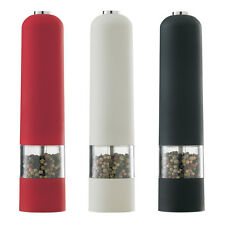 Electric 1x Salt and 1x Pepper Mill Grinder Set With Light Grinders Shaker