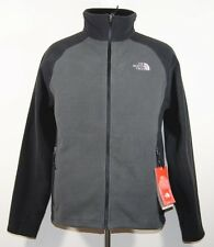 The North Face Men's Straton Full Zip Fleece Jacket Coat Black Grey M L XL New