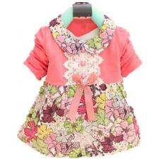 Cute Baby Girls Kids Floral Collar Princess Dress Lace Floral Party Dress