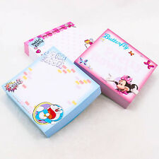 Paper Square 85mm Doraemon Mickey Kitty Pattern Memo Pads Note Writing Lot A0342