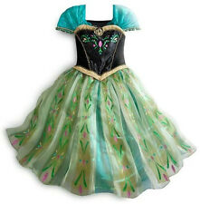2014 NEW Frozen Anna Costume Disney Princess Girl Fancy Outfit Dress Size 3-8T