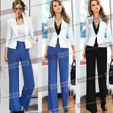 Womens Pleated Business Casual Office Wear To Work Pants trousers Size S M L 936