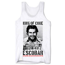 King Of Coke Pablo Escobar Colombian Gangster Cocaine Drug Lord Gym Low Cut Vest