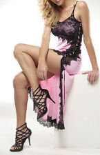 """Rhonda Shear """"Beverly"""" Butterknit Long Gown with Lace 149872"""