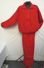 RED WINDBREAKER SET WARM UP TRACK JOGGING WORKOUT LIGHT WEIGHT TRACK SUIT NEW