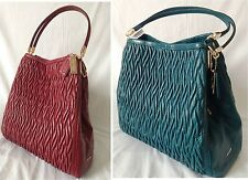 NWT! Coach Madison Gathered Twist Small Phoebe Shoulder Bag. Teal OR Brick Red