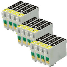 12PK COMPATIBLE BLACK PRINTER INK CARTRIDGES FOR EPSON STYLUS PRINTER