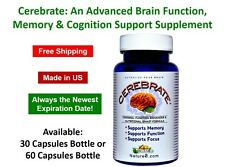 Cerebrate: An Advanced Brain Function, Memory & Cognition Support Supplement
