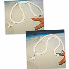 Sharks Tooth Teeth Surfer SUP Puka Shell Necklaces 18 or 20 inch #7255