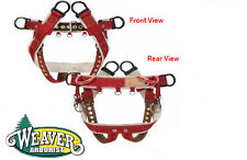 Weaver Tree Climbing,Saddle 4 Dee Ring WLC-160,Features 2 Rounded Nylon Loops