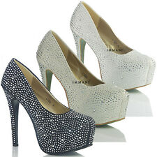 NEW WOMENS LADIES HIGH HEEL DESIGNER  EVENING PARTY COURT SHOES SIZE  4 5 6 7 8