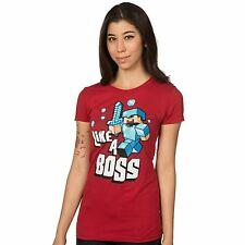 Minecraft Like A Boss Officially Licensed Authentic Juniors T-shirt Tee
