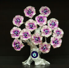 New Evil Eye Turkish Flower Tree Feng Shui Good Luck Gift Available in 4 Colors