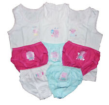 Peppa Pig Briefs and Vests set 12-18m 18-24m 2-3y FIVE Briefs THREE VESTS