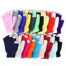 Womens Mens Candy Color Touch Screen Gloves Mittens For Smart Phone Tablet  C39