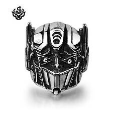Silver ring stainless steel Transformer Autobots Optimus Prime solid soft gothic