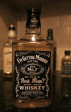 Wedding Party Label for Jack Daniel Whiskey Bottle groomsman best man bride