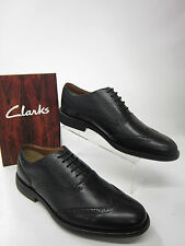 MENS CLARKS SHOES DRESSLITE CITY LACE UP BLACK LEATHER UPPER FITTING G