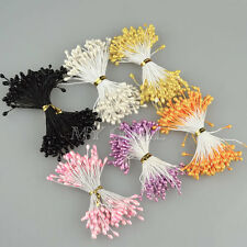 300X Artificial Flower Stamen Double Tip Pearlized Craft Cards Cake Decorating