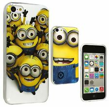 Lovely Minion Silicone TPU Gel Skin Back Case Cover for Apple iPhone 5c