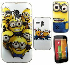 Lovely Minion Silicone TPU Gel Skin Back Case Cover For Motorola Moto G