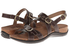 Women's Dansko Jameson Chocolate Strappy Sling Back Sandal Vista 150445020 37-41