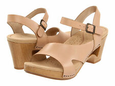Women's Dansko Tasha Natural Leather Dress Clog Casual Sandals 36041606 Sz 37,39