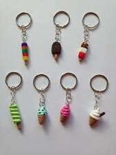 Keyring IceCream Lolly Feast Fab Twister Ice Cream Cone Fruit Pastille Fimo 99