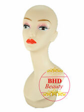 """18"""" PVC Mannequin Manikin Head Bust for Wig Hat Necklace Jewelry Display PYED#"""