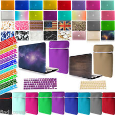 Bundle Rubberized Hard Case + Neoprene Sleeve + Keyboard Cover For Apple Macbook