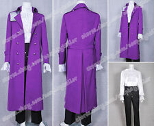 Purple Rain Costume Prince Rogers Nelson Dark Purple Trench Coat Well Designed