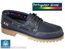 PORTUGUESE MADE DECK SHOES HAND CRAFTED - LEATHER BOAT SHOES  6 7 8 9 10 11 12