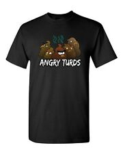 Angry Turds Parody Birds Video Game Funny Humor Novelty Adult DT T-Shirt Tee
